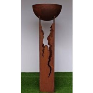 Holz schale säule mit Pflanzensäulen günstig